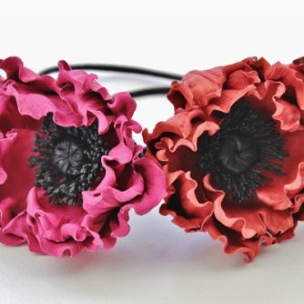 leather poppy chokers