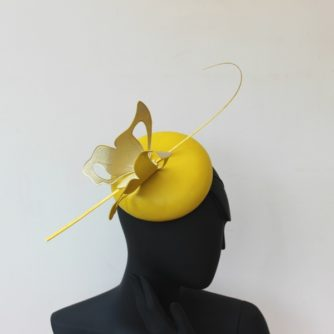 leather button hat
