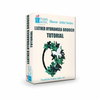 leather hydrangea flower tutorial