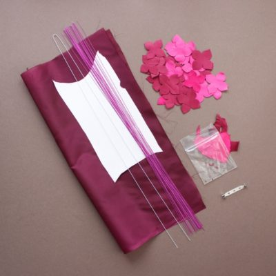 leather hydrangea kit pink