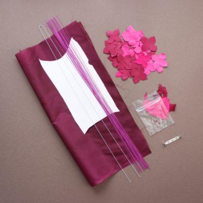 leather hydrangea kit pink