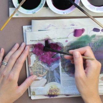 silk painting brushes