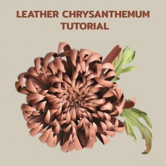 leather chrysanthemum tutorial
