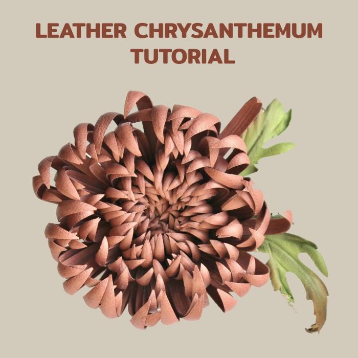 leather chrysanthemum tutorial