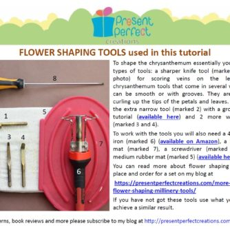 leather chrysanthemum brooch tutorial tools
