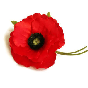 remembrance red poppy brooch
