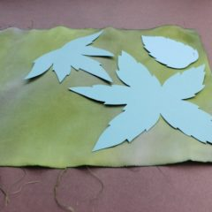 How to dye silk for leaves in bulk