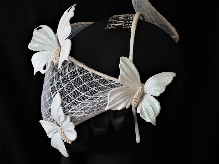 metallic satin fabric butterflies