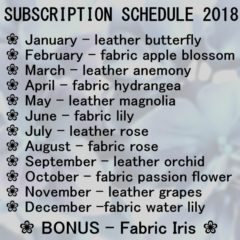 Flower Making Tutorial SUBSCRIPTION 2018