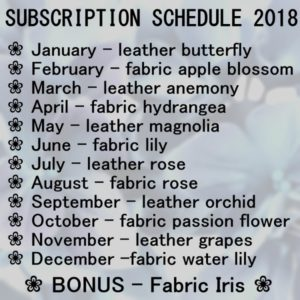 schedule full subscription 2018