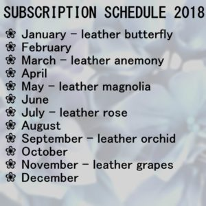 leather schedule subscription 2018