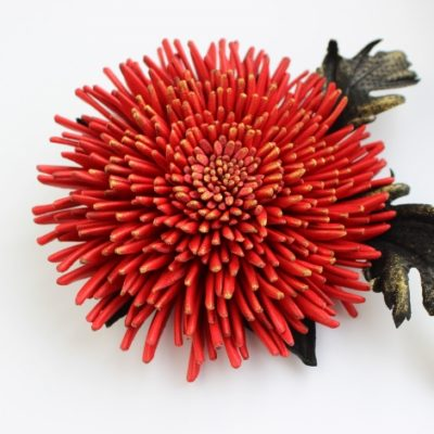 red leather chrysanthemum