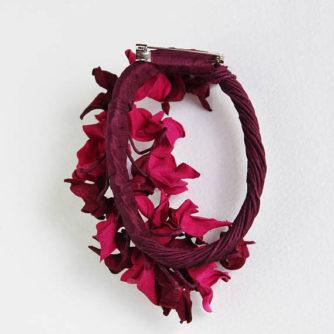 pink hydrangea brooch 3