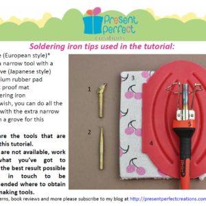 fabric hydrangea tutorial tools