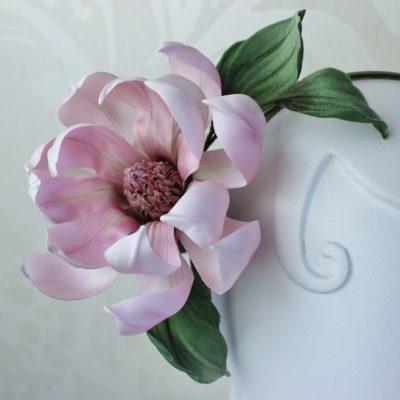 pink silk magnolia flower