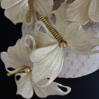 golden butterfly cocktail hat