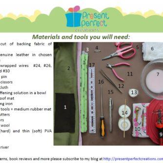 leather magnolia tutorial materials