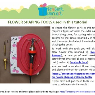 leather magnolia tutorial tools