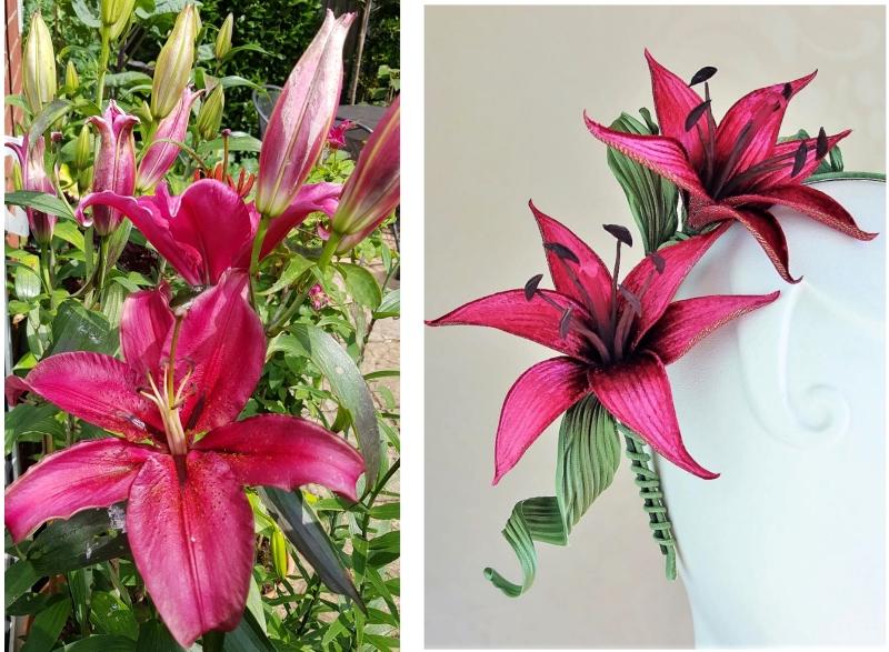 velvet lily tutorial collage
