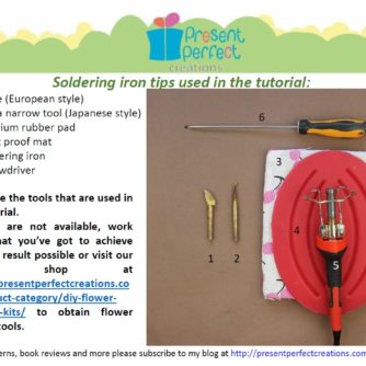 satin fabric lily tutorial tools