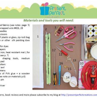 satin fabric lily tutorial materials