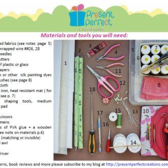 velvet lily tutorial materials