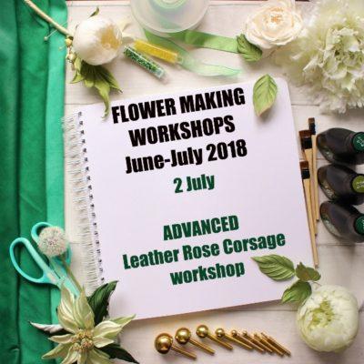 2 July 2018 ADVANCED Leather Rose spray workshop