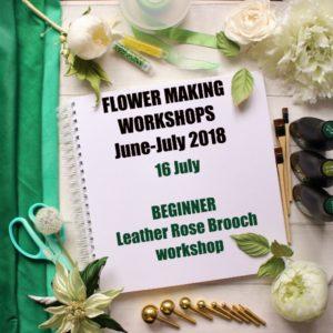 16 July Beginner Leather Rose Workshop