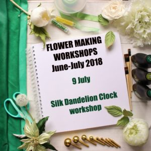 9 July 2018 Silk Dandelion Clock workshop