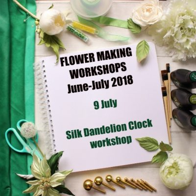 9 July 2018 Silk Dandelion Clock workshop