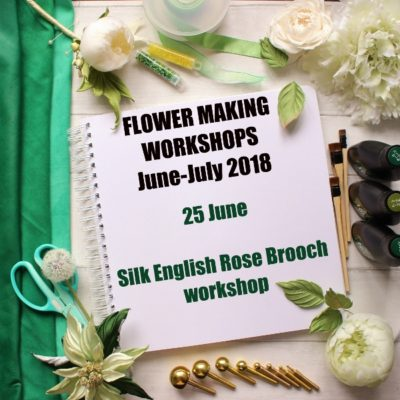 25 June 2018 Silk English Rose Corsage workshop