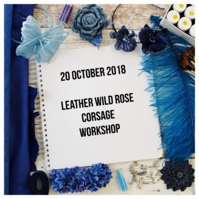 20 October 2018 Leather Wild Rose workshop