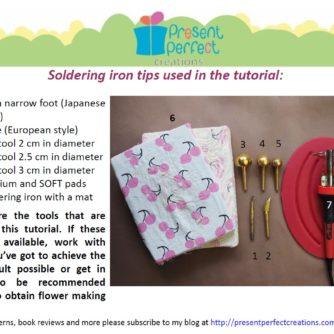 silk cropped petal rose tools