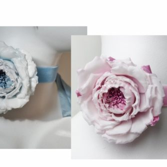 silk rose choker collage (700x452)