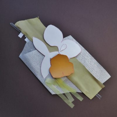 DIY leather Kit for making a Leather Cattleya Orchid Brooch