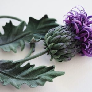 silk thistle brooch