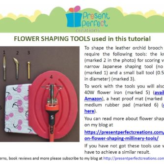 leather cattleya orchid tutorial tools