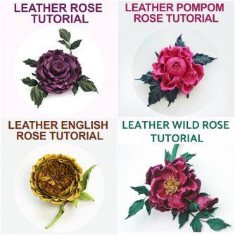leather rose TUTORIAL BUNDLE