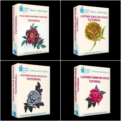 4 for the price of 3 leather ROSE tutorial bundle