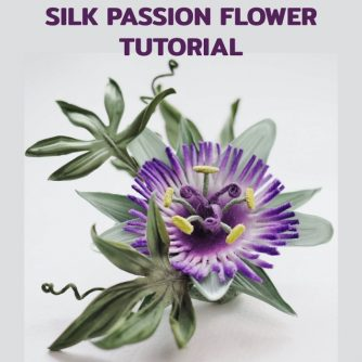 Silk Passion flower tutorial