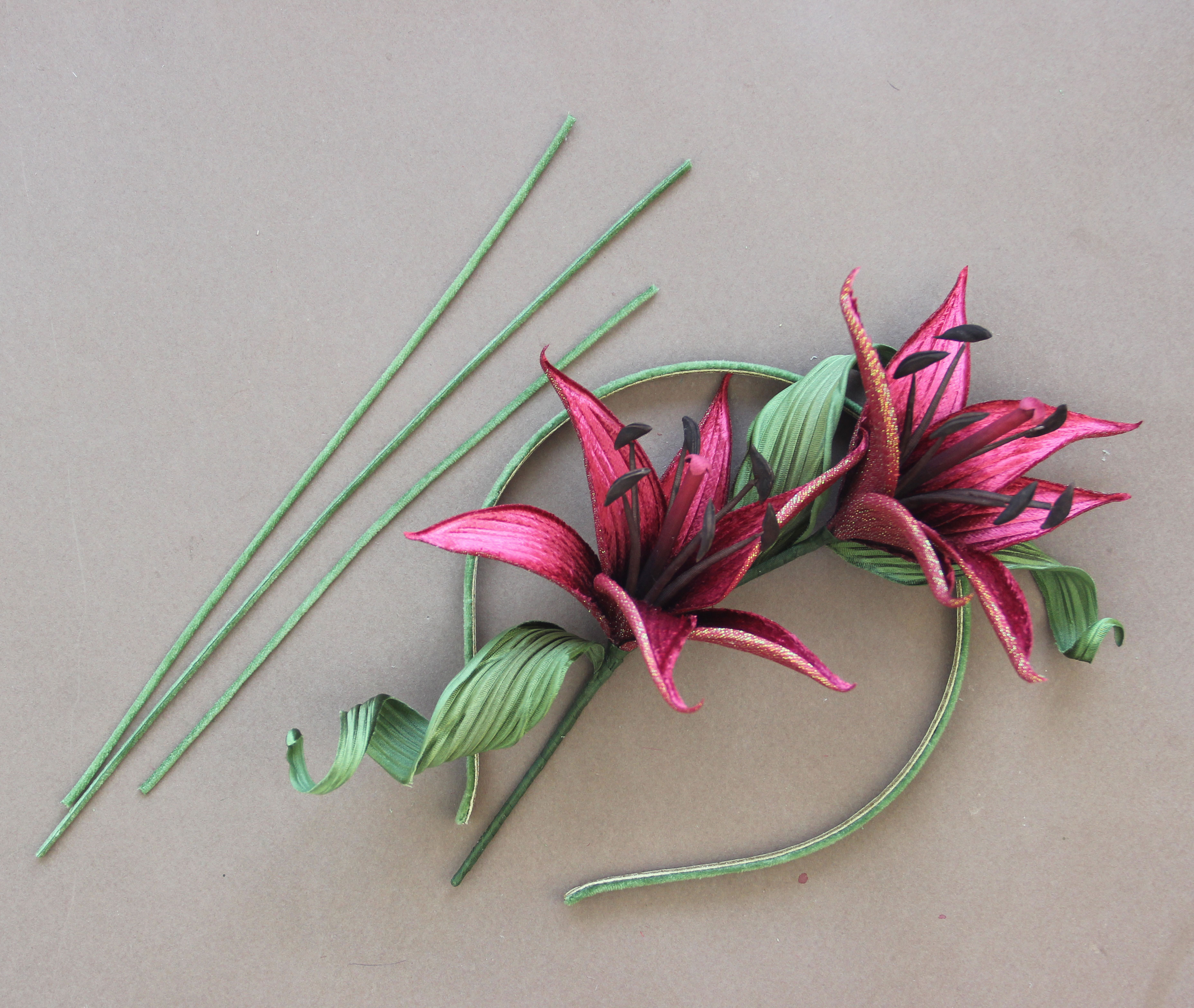 about 3 in across Shirt etc... Scarf Intricate and Classy Hand-Crafted Kanzashi Accessory Flower for Your Hair