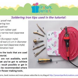 silk water lily tutorial tools