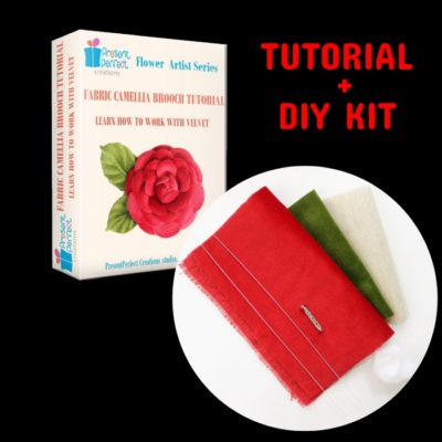 Velvet Camellia tutorial + DIY Kit