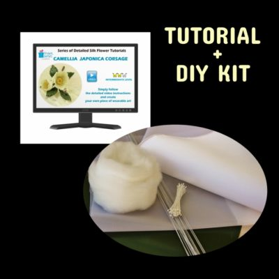 Fabric camellia VIDEO tutorial + DIY kit