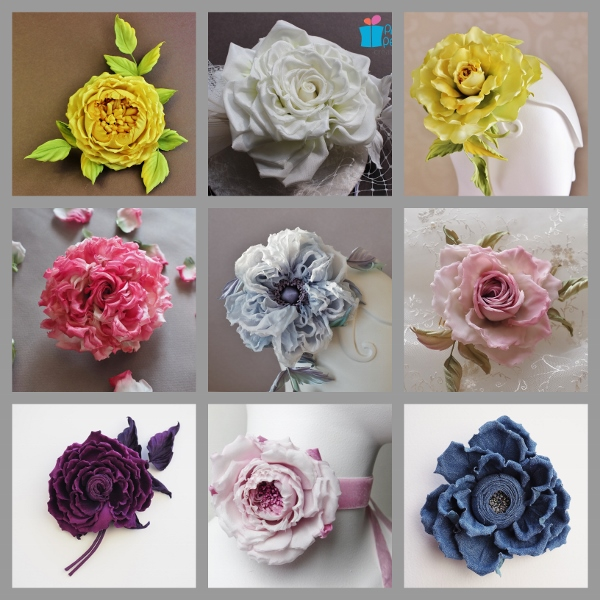 silk flower workshop