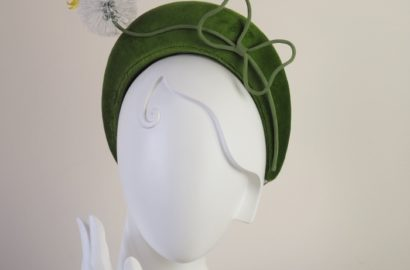 silk dandelion headpiece