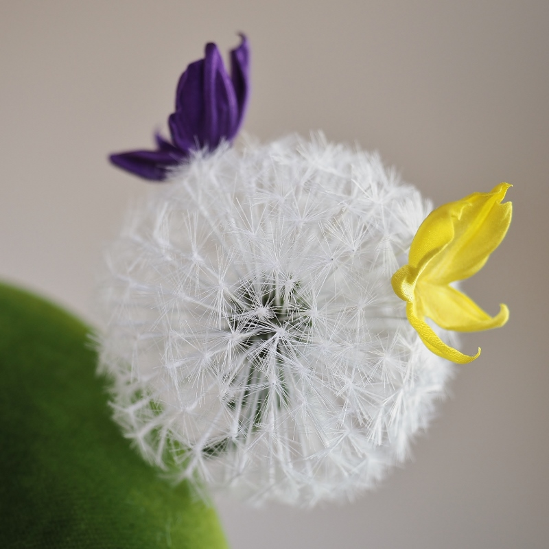 silk dandelion headpiece
