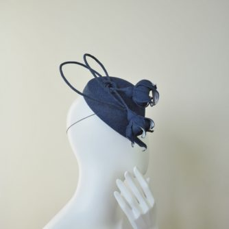 denim hat with roses