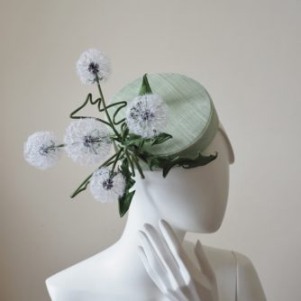 silk dandelion clock pillbox hat