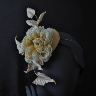 yellow silk rose hat